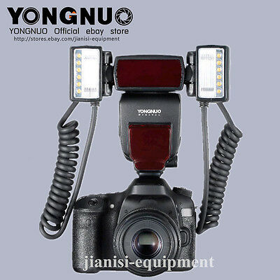 YONGNUO YN-24EX Macro speedlite with 2 flash heads 52/58/67/72mm rings for canon