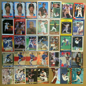 Roberto-Alomar-LOT-of-49-rookie-insert-base-cards-NM-HOF-RC-padres-1988-1999