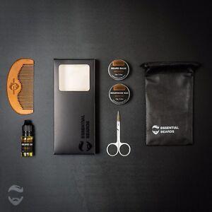 Essential-Grooming-Kit-SANDALWOOD-6pc-set-Beard-Balm-Oil-Wax-Comb-1C