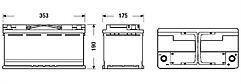Exide EK950 Start-Stop Battery