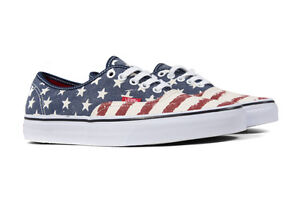 969e54d2f6 Vans AUTHENTIC Mens Shoes (NEW) Americana STARS Stripes USA  Merica ...