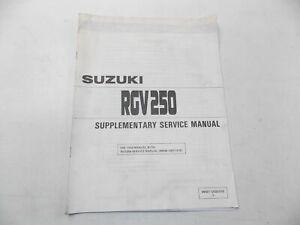 NEW-SUZUKI-1990-SUPPLEMENTARY-MANUAL-RGV250-ENGLISH-99501-12020-01E
