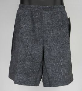 NEW-LULULEMON-Pace-Breaker-Short-M-Gridiron-Starlight-Black-Run-Gym-Shorts