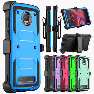 For-Motorola-Moto-Z2-Play-Z2-Force-Case-Belt-Clip-Holster-Kickstand-Phone-Cover