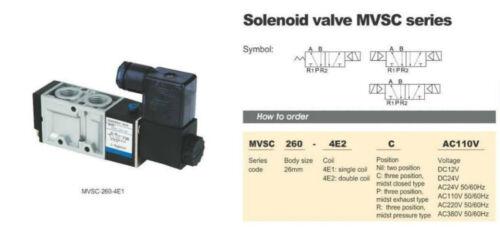 1x MVSC260-4E2 24V DC 5Port 2Pos 1/4 BSP Solenoid Air Valve Double Coil Led Other Valves & Manifolds Valves & Manifolds