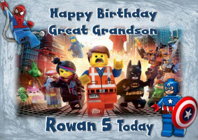 Lego Movie Grandson Son Boy Personalised Birthday Card A Ebay