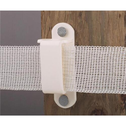 """10 Pk Dare 1-1//2/"""" Nail On Wood Post Electric Fence Tape Insulator 25//Pk 2330-25W"""
