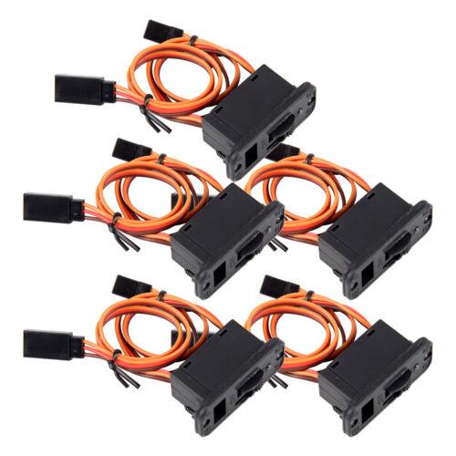 5xHochleistungs-RC-LED-Empfängerakku auf Aus-Schalter pass für JR Futaba Adapter