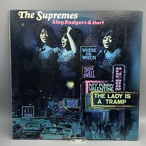 The SUPREMES Sing Rodgers & Hart Vinyl 1967 Album Motown 659 Detroit