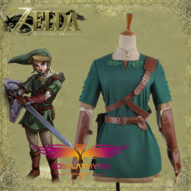 Legend of Zelda Twilight Princess Link Cosplay Costumes XS-Custom Made Any Size