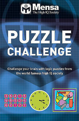 1 of 1 - Mensa Puzzle Challenge by Robert Allen Paperback Book (English)