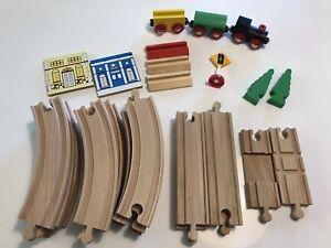 Euc Maxim Lot Compatible29 Wooden Piece Train Enterprisebrio HI29WED