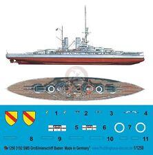 Peddinghaus 1/1250 SMS Baden German dreadnought Battleship WWI Markings 3192