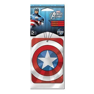 Marvel AVENGERS Official Licensed CAPTAIN AMERICA Car AIR FRESHENER SET of 2pc