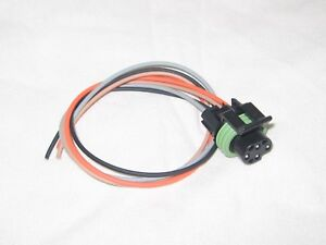 gm engine oil pressure switch connector pigtail 4 wire black 1985 rh ebay com au