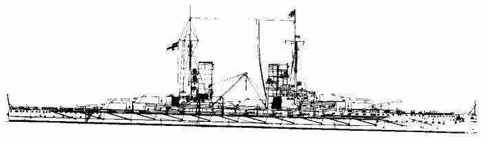 Plano de edificio S.M.S. rey modellbau plan de modelismo