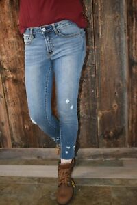 2d3e7abce68 Vervet by Flying Monkey Jeans Aries Mid Rise Distressed Skinny ...
