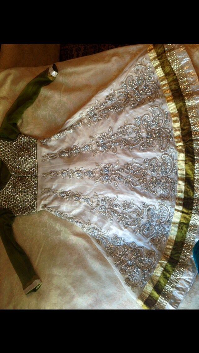 Designer Asain Bridal Wedding Dress Indian Mendhi Anarkali Size 8-10