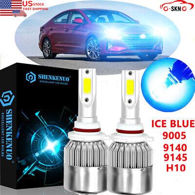 White LED 9005 HB3 Low Beam Headlight Bulbs For 2017 2018 Hyundai Elantra US