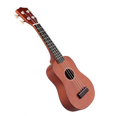 21'' Acoustic Soprano Ukulele Uke 12 Frets Instrument Hawaiian Guitar Coffee