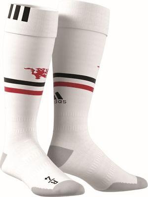 Zielstrebig Adidas Manchester United Fc Stutzen Home 2017 2018 Herren Fußballsocken Weiß Perfekte Verarbeitung