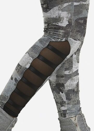 Details about  /NWT JUSTICE GIRLS 8 12 OUTFIT~GRAPHIC RINGER TEE //CAMO FOIL MESH LEGGINGS