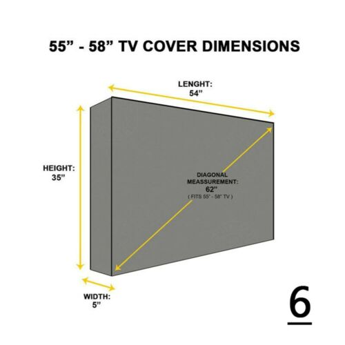 Outdoor Indoor Waterproof TV Cover Television Protector For 22/'/' to 65/'/' LCD LED