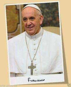 Papst Franziskus Papa Francesco Francisco Autogramm Reproduktion Matt Print Poster Ebay