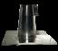 FALDALE-DRITTO-PER-TETTO-PIANO-130-MM-IN-ACCIAIO-INOX-AISI-304-CANNE-FUMARIE miniatura 8