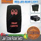 Laser Etched Rear Lights Rocker Switch ARB Carliling Narva Red 12V 24V ON OFF