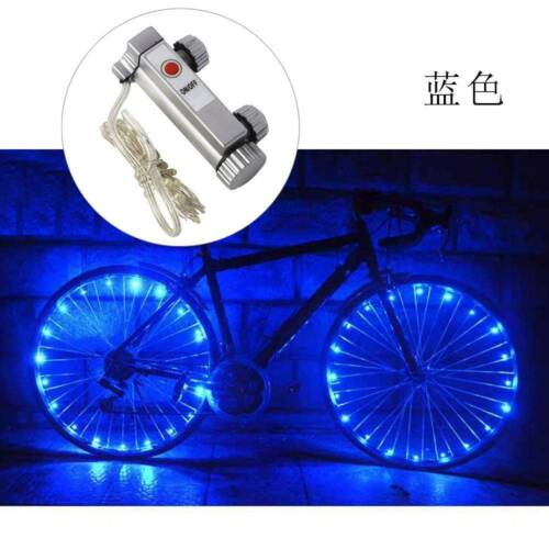 20 LED Bicycle Bike Cycling Rim Wheel Lights On Off Flash Spoke Light String Top