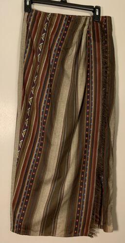 Vintage Lizwear Petites Brown Wrap Long Skirt Wome