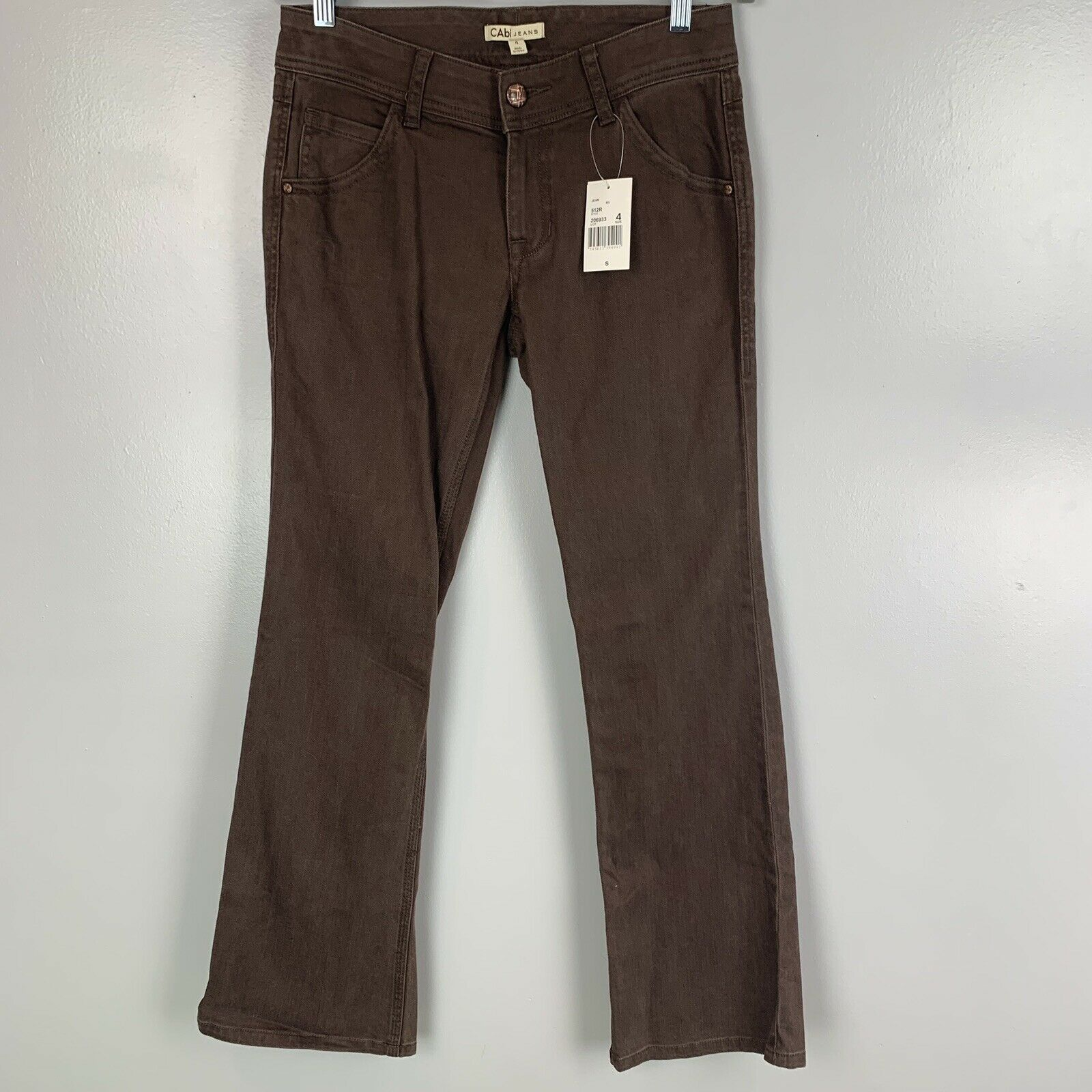 Cabi Jeans Women's Contemporary Bootcut Brown Jeans NWT Sz 4