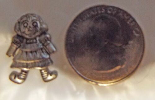 Raggedy Ann PEWTER HAT PIN LOT OF 2 FREE SHIPPING IN USA