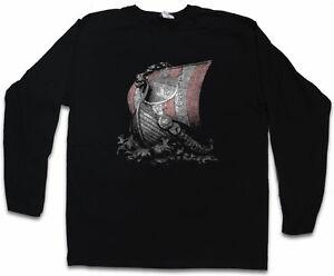 VIKING SHIP I LANGARM T-SHIRT Vikings Longship Norsemen