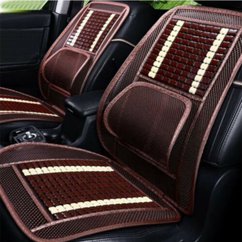 Natural Wood Beads Car Seat Cover Fit Auto /& Home Chair Mat Mesh Massage Cushion