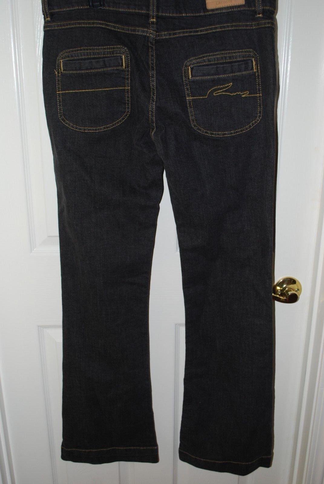 New LACOSTE Jeans Vintage bluee Straight Leg 34  Inseam Women's Size 12