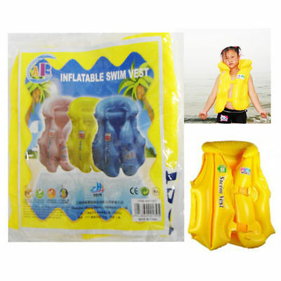 Inflatable Swimming Vest Childrens Child Floating Safe Jacket For Kids Learning