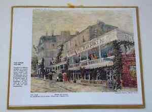 CALENDRIER ALMANACH PTT 1968 VAN GOGH le restaurant de la sirène #
