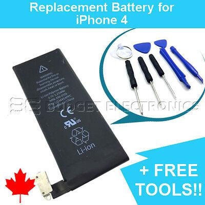 NEW iPhone 4 Replacement Battery 1420mAh APN 616-0513 with FREE Repair Tools