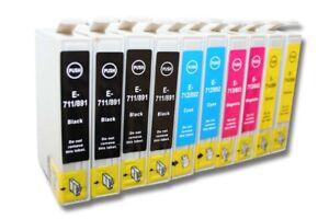 10x-CARTUCHOS-de-TINTA-compatible-Negro-y-Color-para-EPSON-Stylus-SX205-SX209