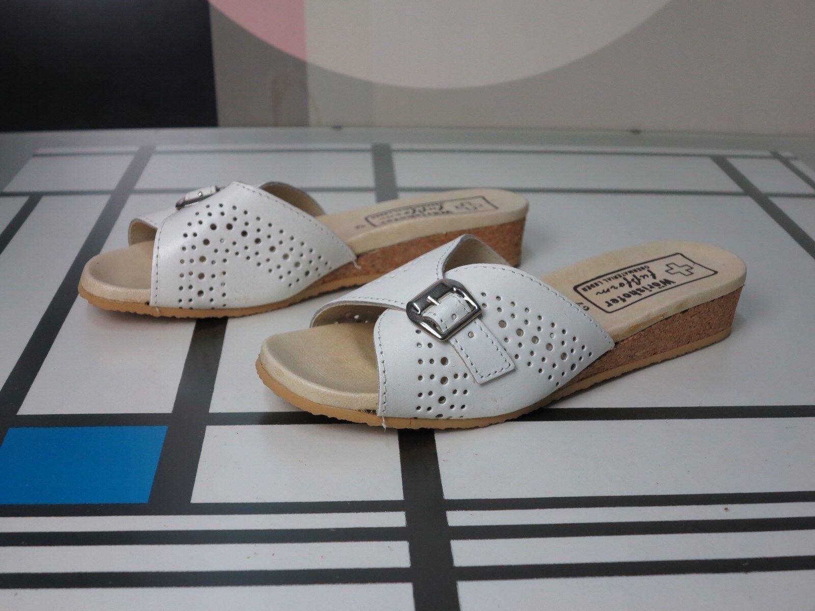 Wörishofer acolchada sandalia badeschuh 42 OVP True vintage Wood sandals Bath zapatos