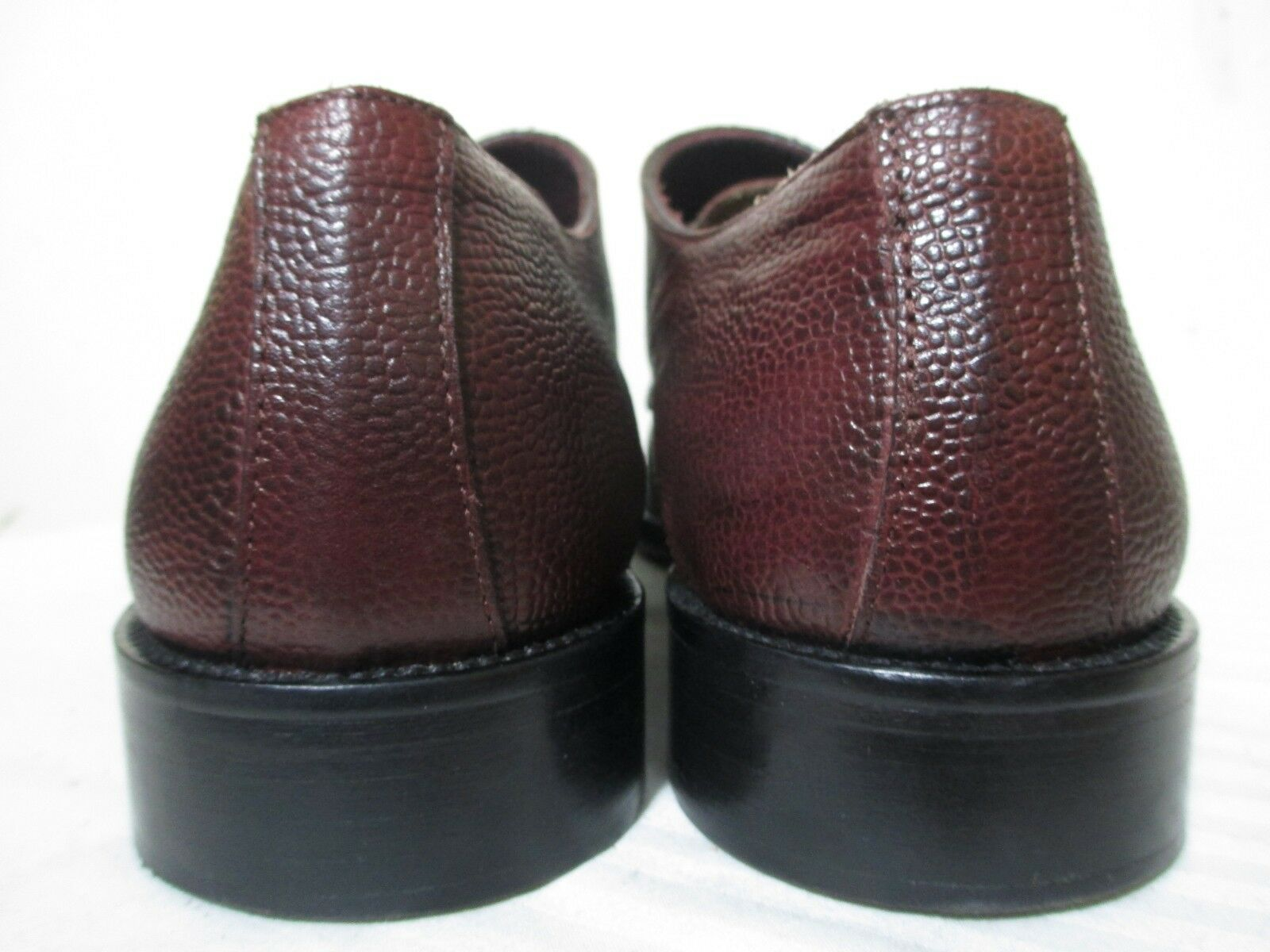 WALL+WATER Uomo'S Uomo'S Uomo'S BURGUNDY PEBBLED LEATHER DOUBLE MONK DRESS SHOES 10 ITALY 0013bd