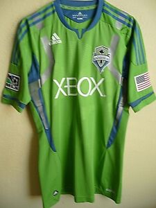 best loved 748be d5dd0 Details about MLS Adidas TECHFIT PowerWeb Seattle Sounders Authentic Soccer  Jersey 8 (L) NWT