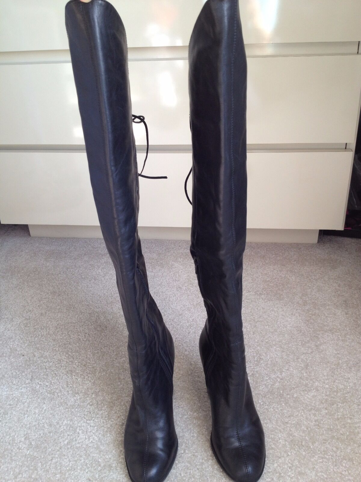 Leather BRONX (Made in Brazil) Lace Up Over the Knee (Excellent Condition)