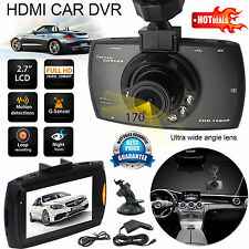 "1080p HD Dash Cam Wide Angle Night Vision Car DVR 2.4"" LCD Camera Sensors-DVR3"