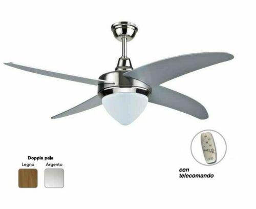 Ventilatore a soffitto EV053 luna cfg con luce telecomando ø 130 cm mshop