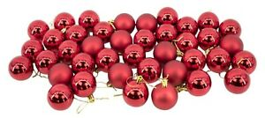 Red-Baubles-Bulk-Pack-Christmas-Tree-Decoration-Assorted-Shiny-amp-Matt-5cm