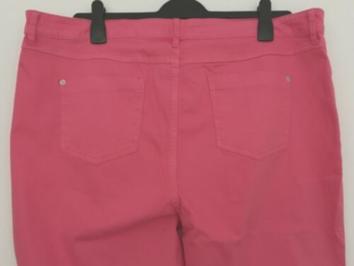 LADIES M/&S SIZES 12 16 18 22 OR 24 RASPBERRY PINK SUPER SKINNY SUPERSOFT JEANS