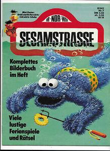 SESAMSTRASSE-Nr-7-von-1974-mit-Bastelbogen-TOP-Z0-1-wie-NEU-Gruner-amp-Jahr